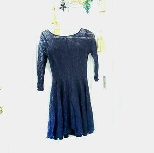 Armani Exchange a line fit flare skater dress